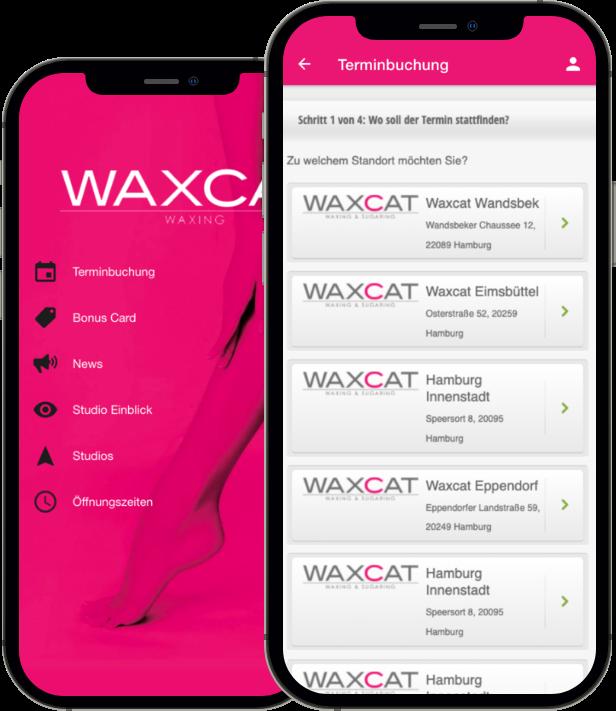 Waxcat - Termine bequem über unsere App buchen